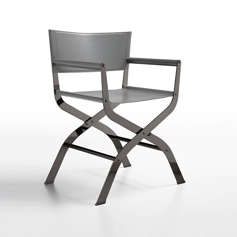 Sedie Metallo E Cuoio.Ciak Linea Minimal E Abbinamento Di Materiali Preziosi Quali Il