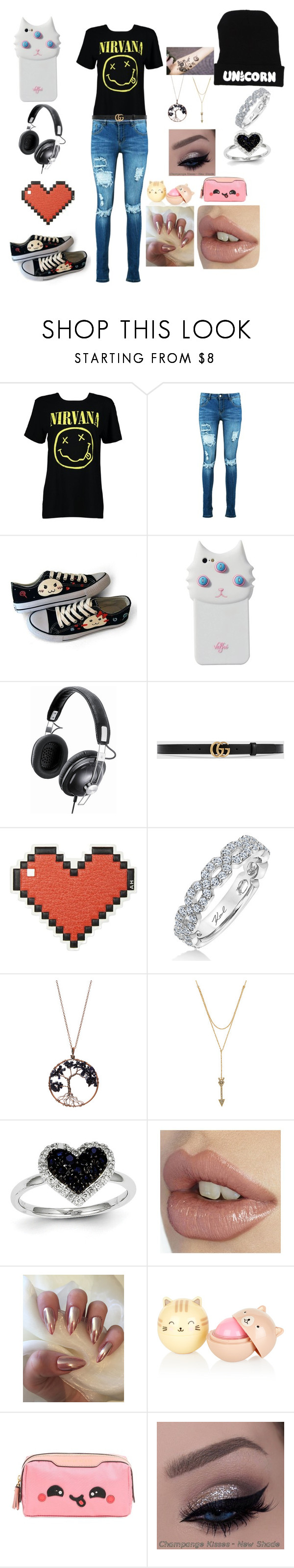 """""""random"""" by anime-venus-ghoul on Polyvore featuring Boohoo, HVBAO, Valfré, Panasonic, Gucci, Anya Hindmarch, Karl Lagerfeld, Braided Birch, Rebecca Minkoff and Kevin Jewelers"""