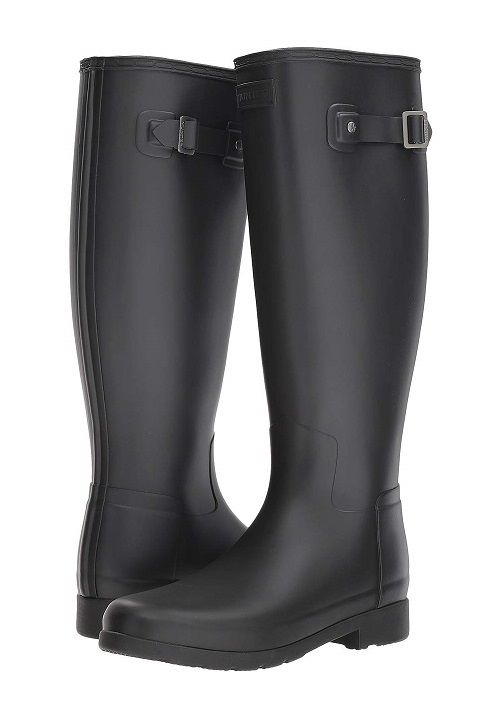 5295b50d631 Hunter Original Wide Calf Rain Boot Black Matte - Revamp your rainy day  look with the sleek Hunter® Original Refined Wide Calf Rain Boot Matte.