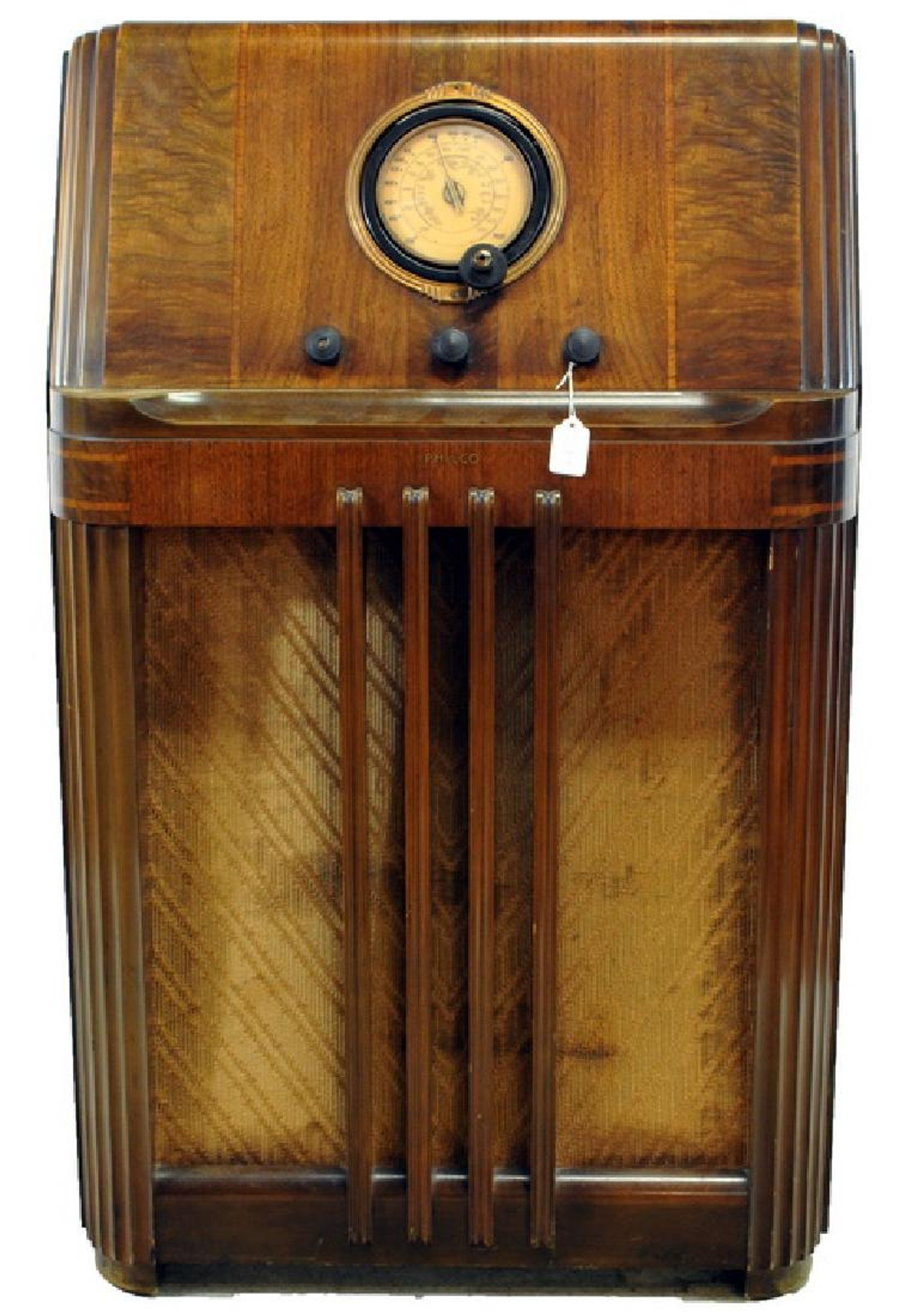 Philco Floor Radio Model #38 4 Inlaid Cabinet