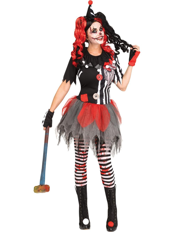 Leg Avenue Creepy Circus Clown Adult Costume Halloween Scary Evil Killer M//L-XL
