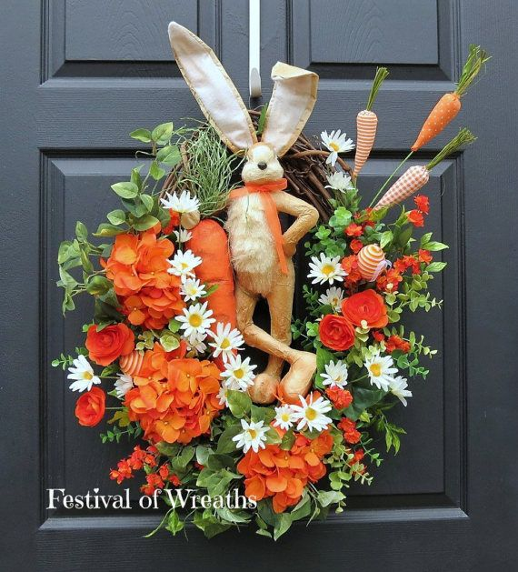 Easter Wreath - Easter Front Door Wreath - Spring Wreath - Floral ...