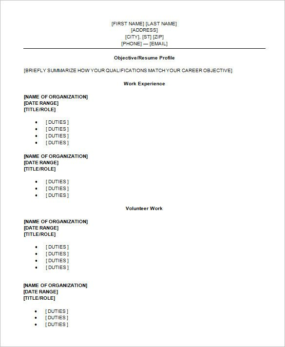 For High School Students Pinterest High school resume template