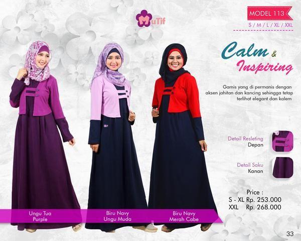 Baju Longdress Gamis Bahan Combeds Mutif Model 113