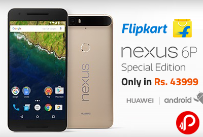 Flipkart offers Nexus 6P Special Edition Gold, 64GB Only in Rs. 43999. Android v6 OS, 12.3 MP | 8 MP Camera, 4G LTE (Cat 6), Fingerprint Sensor.  http://www.paisebachaoindia.com/get-nexus-6p-special-edition-gold-64gb-only-in-rs-43999-flipkart/