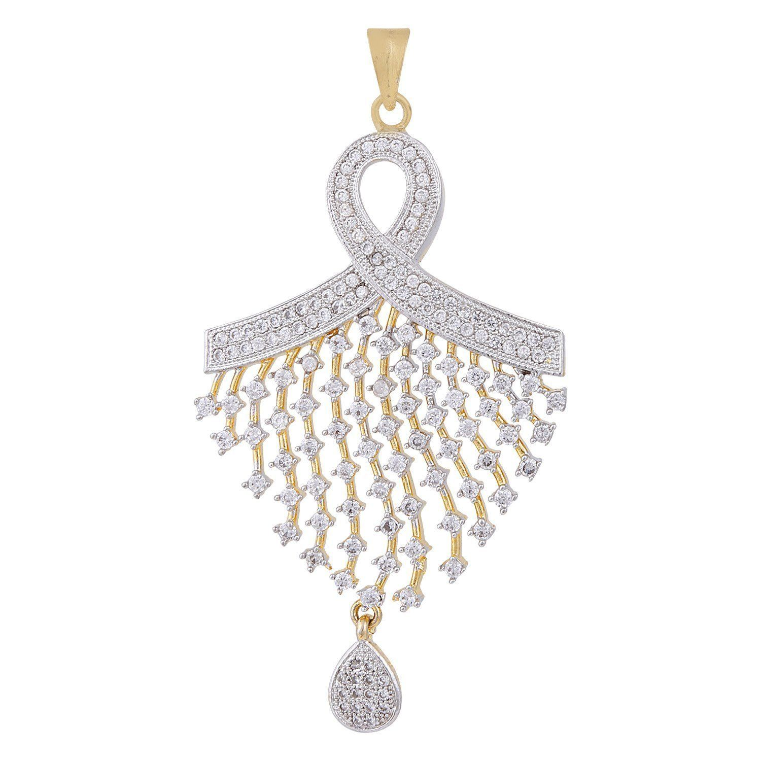 Ananth jewels peacock shaped zircon fashion jewelry set pendant