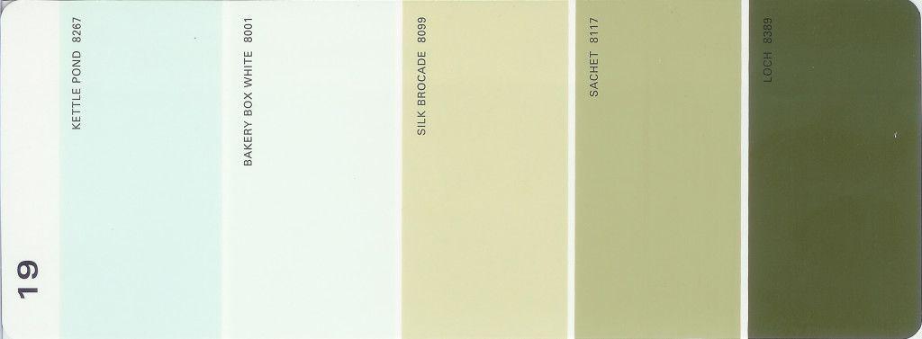 Martha Stewart Paint 5 Color Palette Card 19 Available