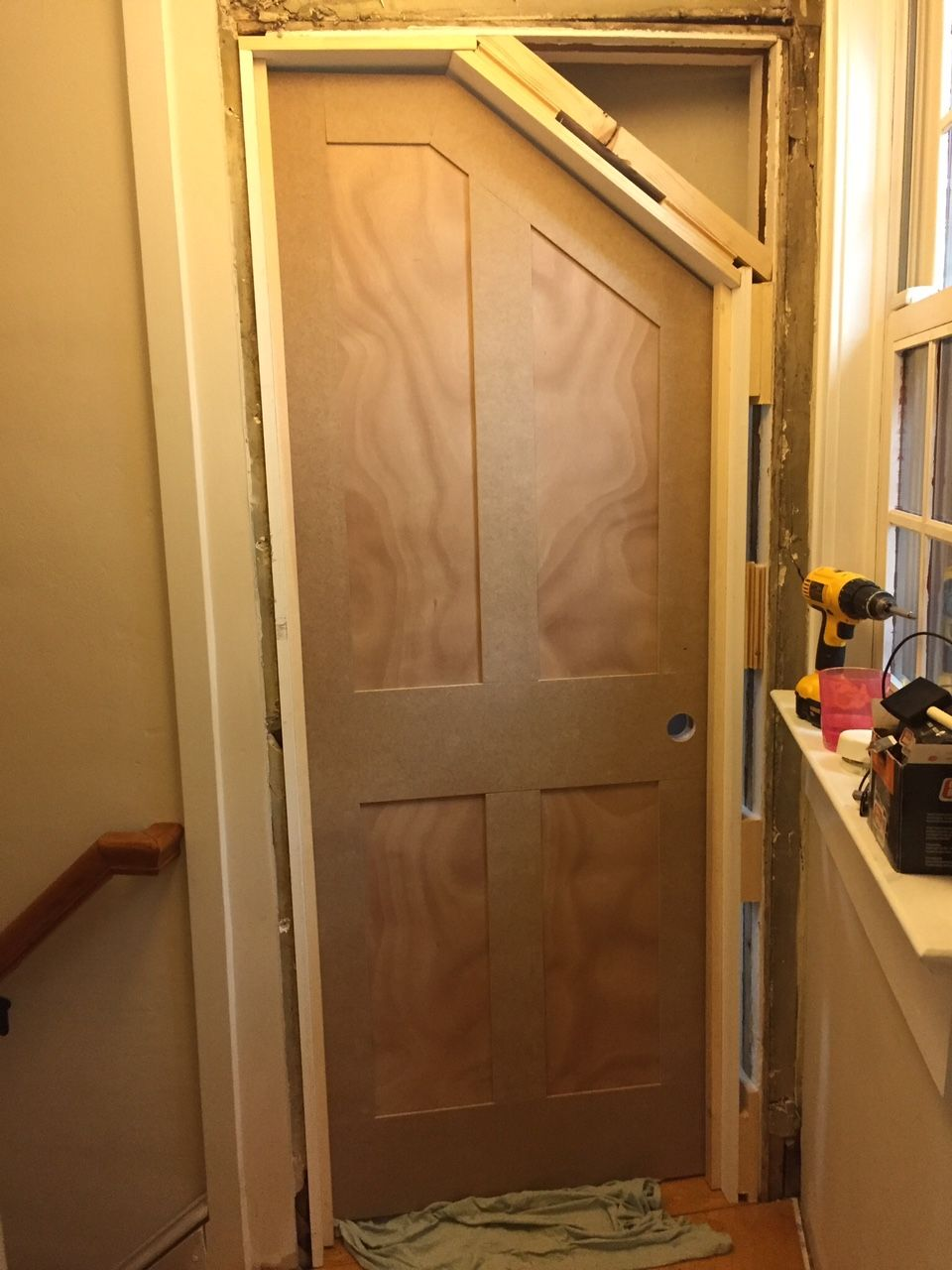 DIY - How to Build an Angled Door - One Room Challenge Week 5 & Internal door angled to match sloping ceiling | Attic Bedroom ... pezcame.com