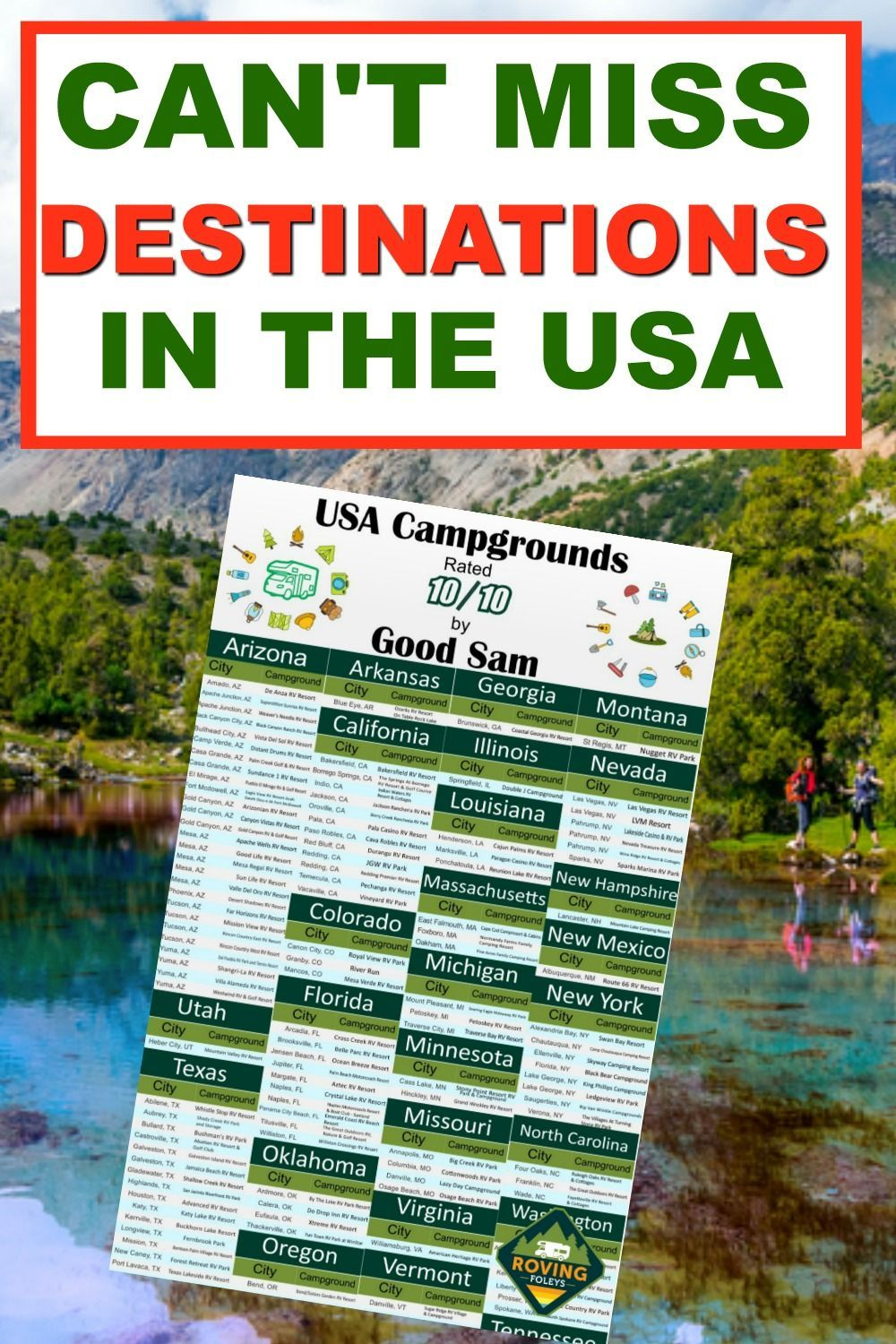 The Best Campground In Every State From Florida To Michigan We Ve Put Together A List Of The To In 2020 Best Campgrounds Best Places To Camp Road Trip To Colorado