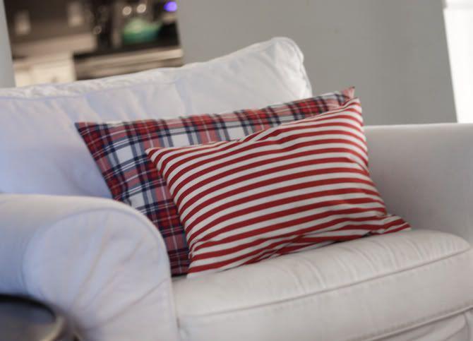Easy-peasy pillow slipcover tutorial