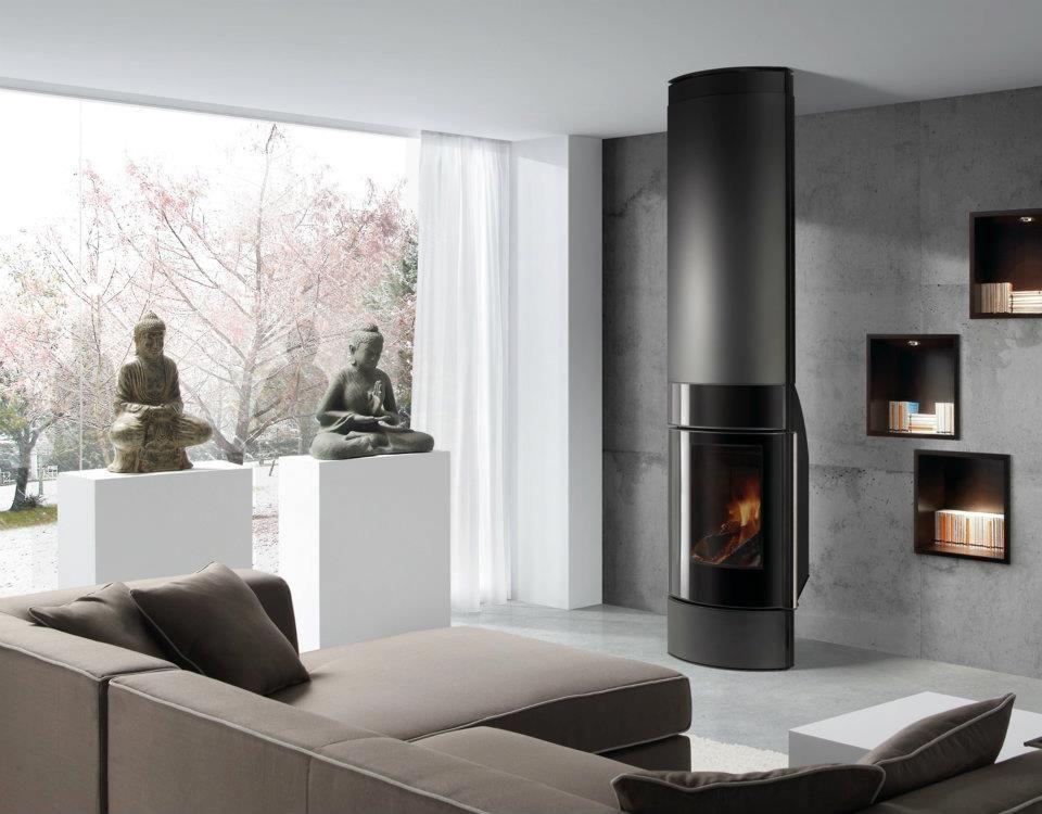 Chimenea a le a santorini chimeneas hergom en 2018 for Diseno de estufas hogar a lena
