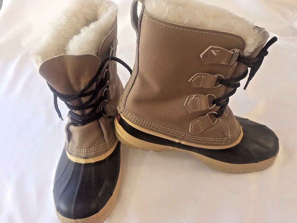 96954313c Size 10 Womens Sorel Boots Caribou Snow Winter Waterproof Rain Duck Black  Tan #Sorel #WinterBoots #WalkingHiking