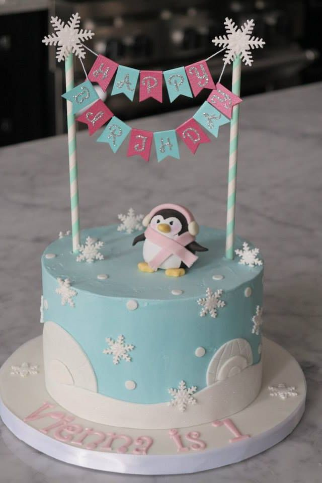 winter birthday cakes