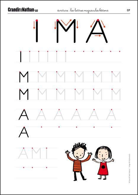 Connu Ecriture - CP - Les lettres majuscules bâtons   juu   Pinterest  ZG03