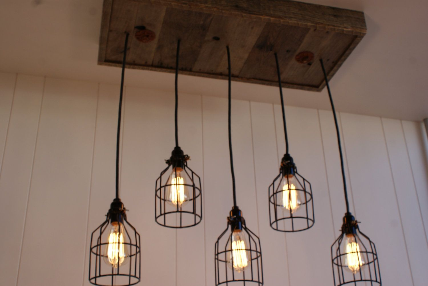 Lighting Industrial Lighting Industrial Rustic Chandelier Black
