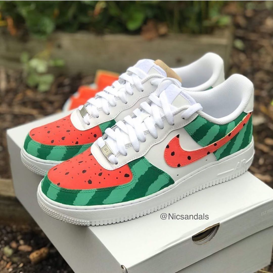 Behind The Scenes By Custom Drip Watermelon Shoes Custom Nike Shoes Nike Shoes Air Force