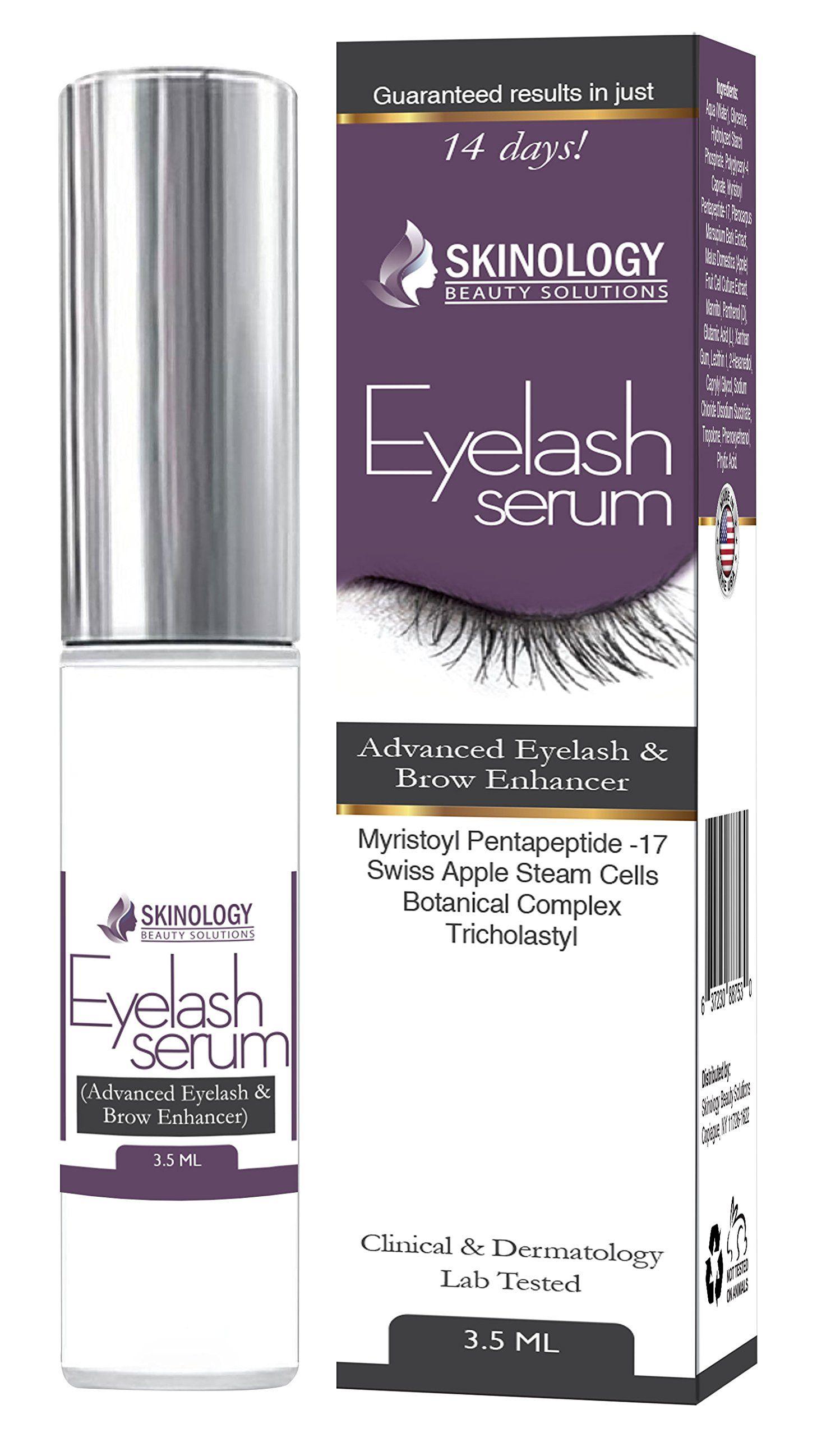 c2fd0705dec Amazon.com: Eyelash Growth Serum 3.5 ml - Thicker, Longer Eyelashes &
