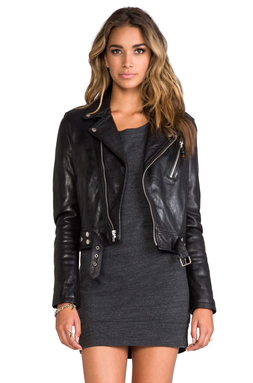 BLK DNM Leather Jacket 1 in Black from