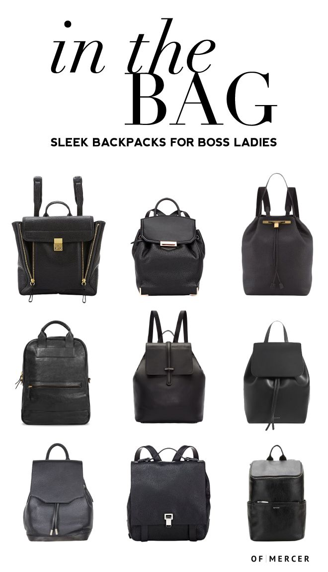 b3429a9f9e Sleek Backpacks for Professional Women