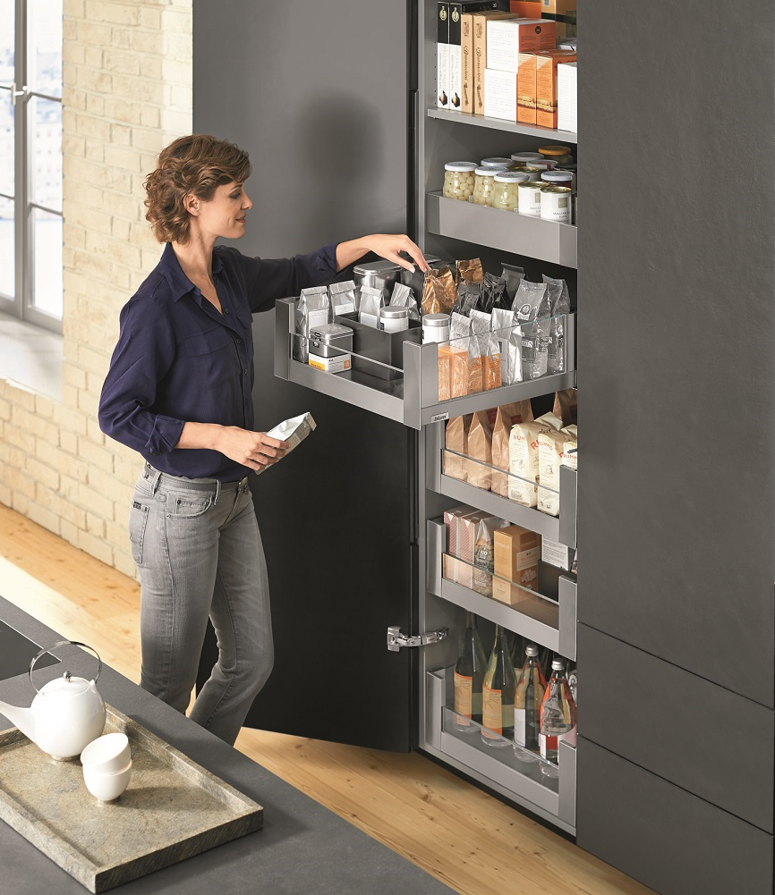 The SPACE TOWER larder unit by Blum