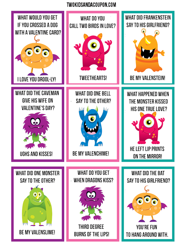 50 Free Printable Valentines Valentines Printables Free Monster Valentines Printable Valentines Cards