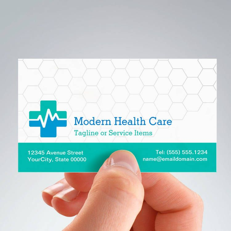 Modern Medical HealthCare - White Green Blue Business Card ...