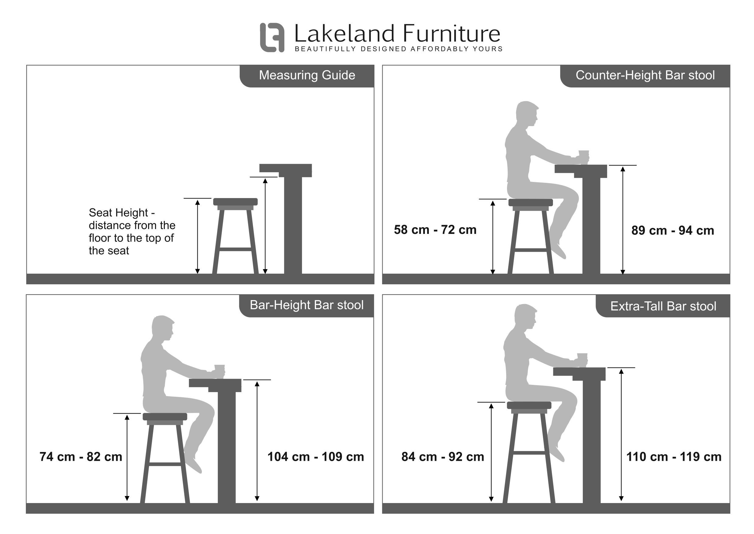 4 Bar Chair Height in 4  Bar stool height guide, Bar height