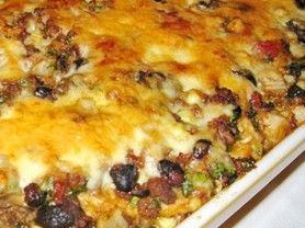 View the Full Recipe on Cookmore.com.This unique lasagna has layer upon layer of Mexican flavor. Add your favorite garn
