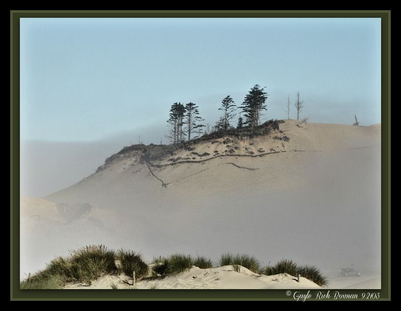Pacific City sand dunes, taken during my vacation. I just noticed that I signed it 2103 instead of 2013!!!  I lost my sense of time on vacation, I guess.