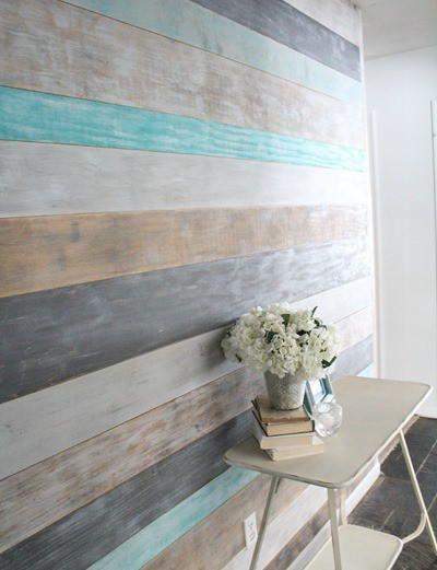 DIY Painted Plank Wall | Diy wood wall, Plank walls, Decor