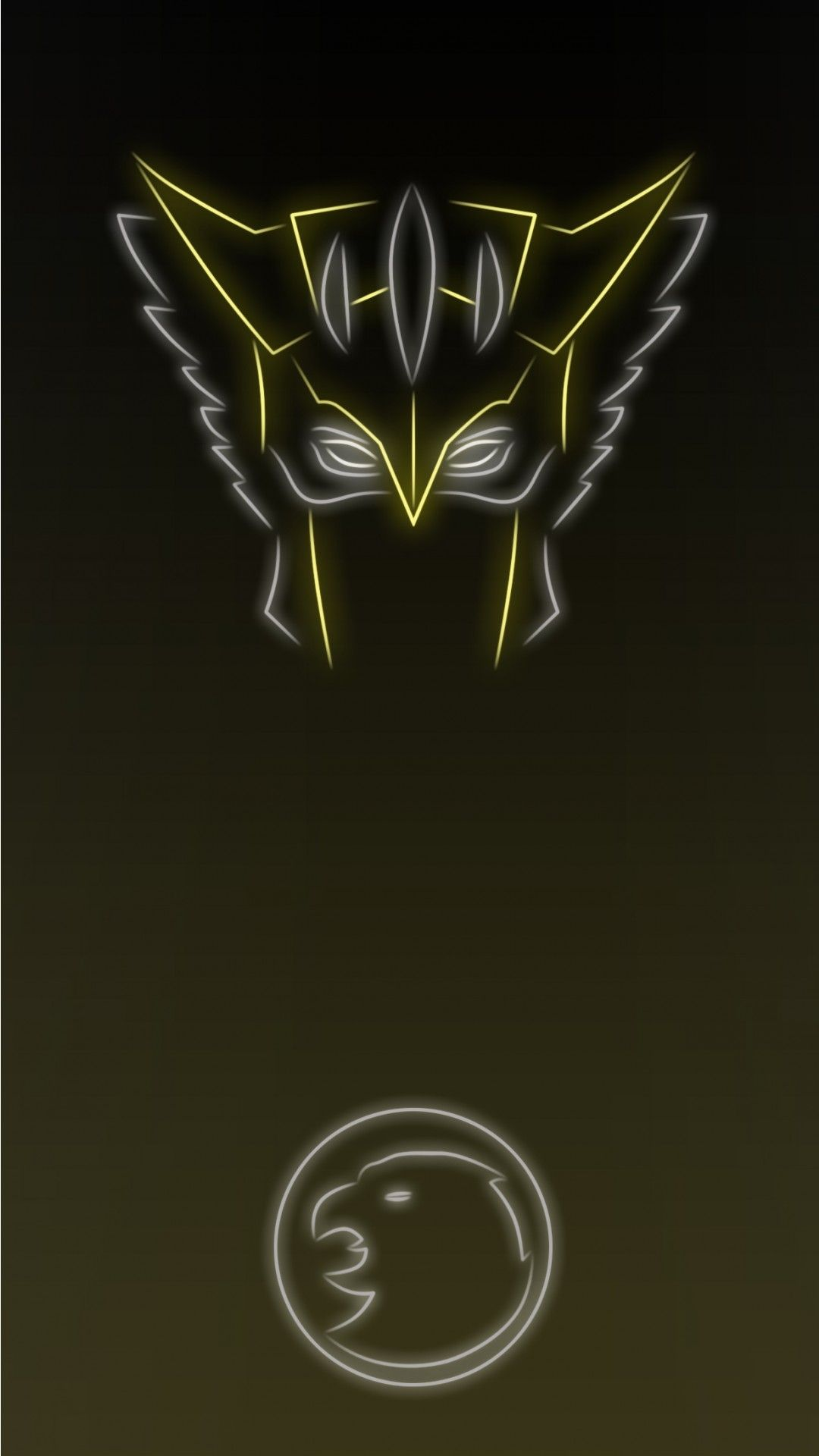 Neon Light Superheroine Hawkgirl Hawkgirl Superhero Hawkman