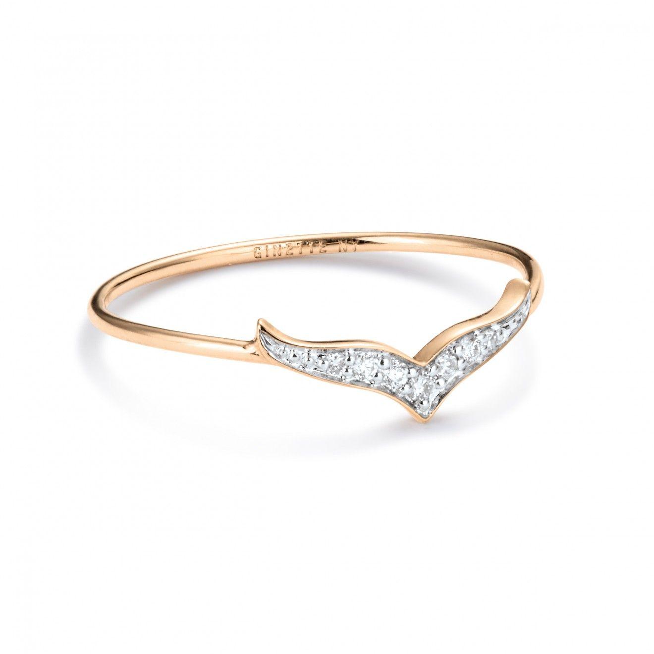 Diamond Wise 18-karat rose gold ring Ginette NY nXk30ykaAb