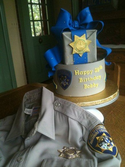 Highway Patrol Happy Birthday Policeman Cakes