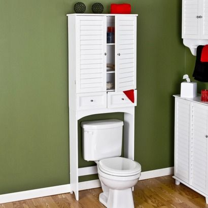 Beau Nassau Louvered Door Over Toilet Etagere   White : Target