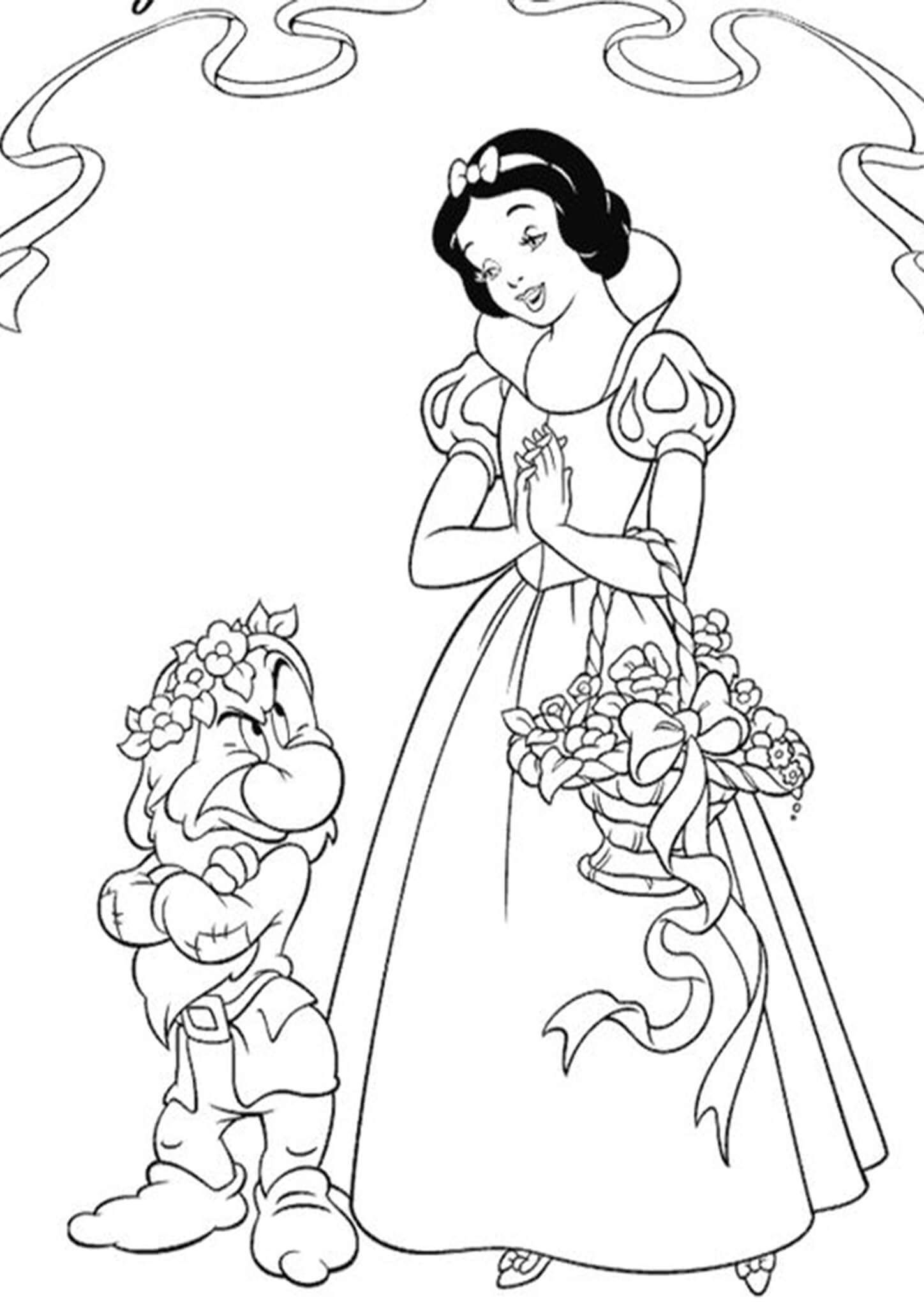 Free Easy To Print Snow White Coloring Pages In 2021 Disney Princess Coloring Pages Snow White Coloring Pages Princess Coloring Pages