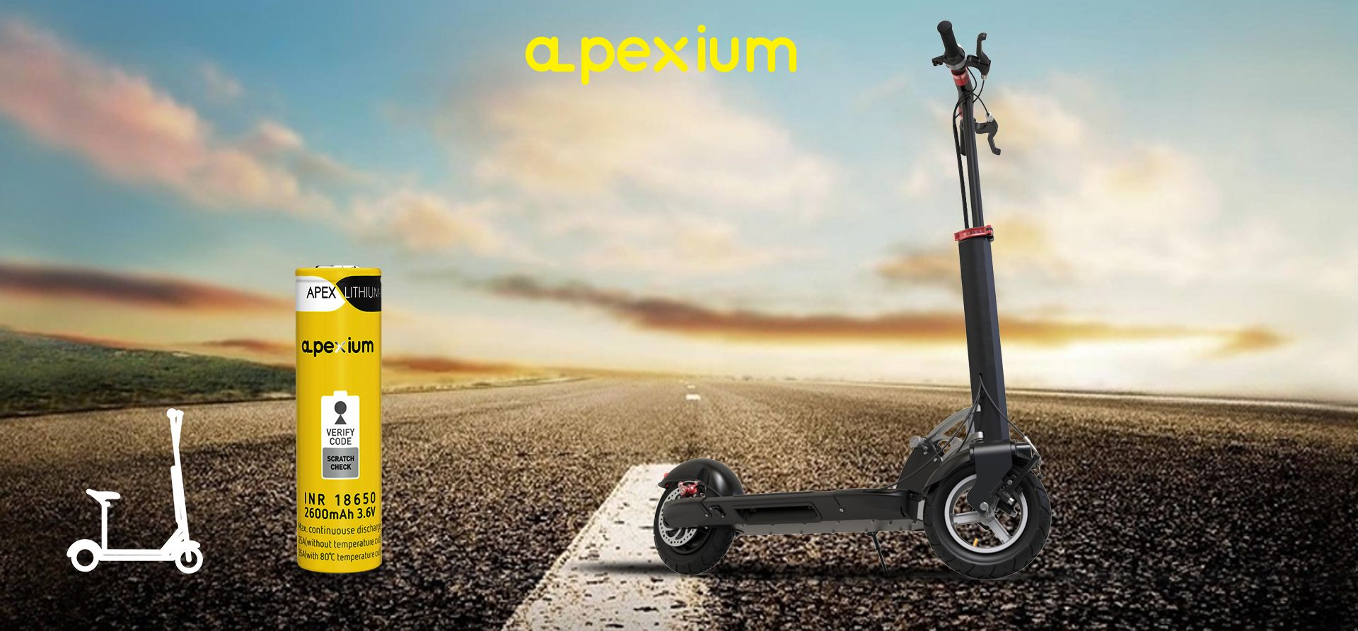 Best battery & pack for electric scooter! Apexium 18650 2600mAh 3 6
