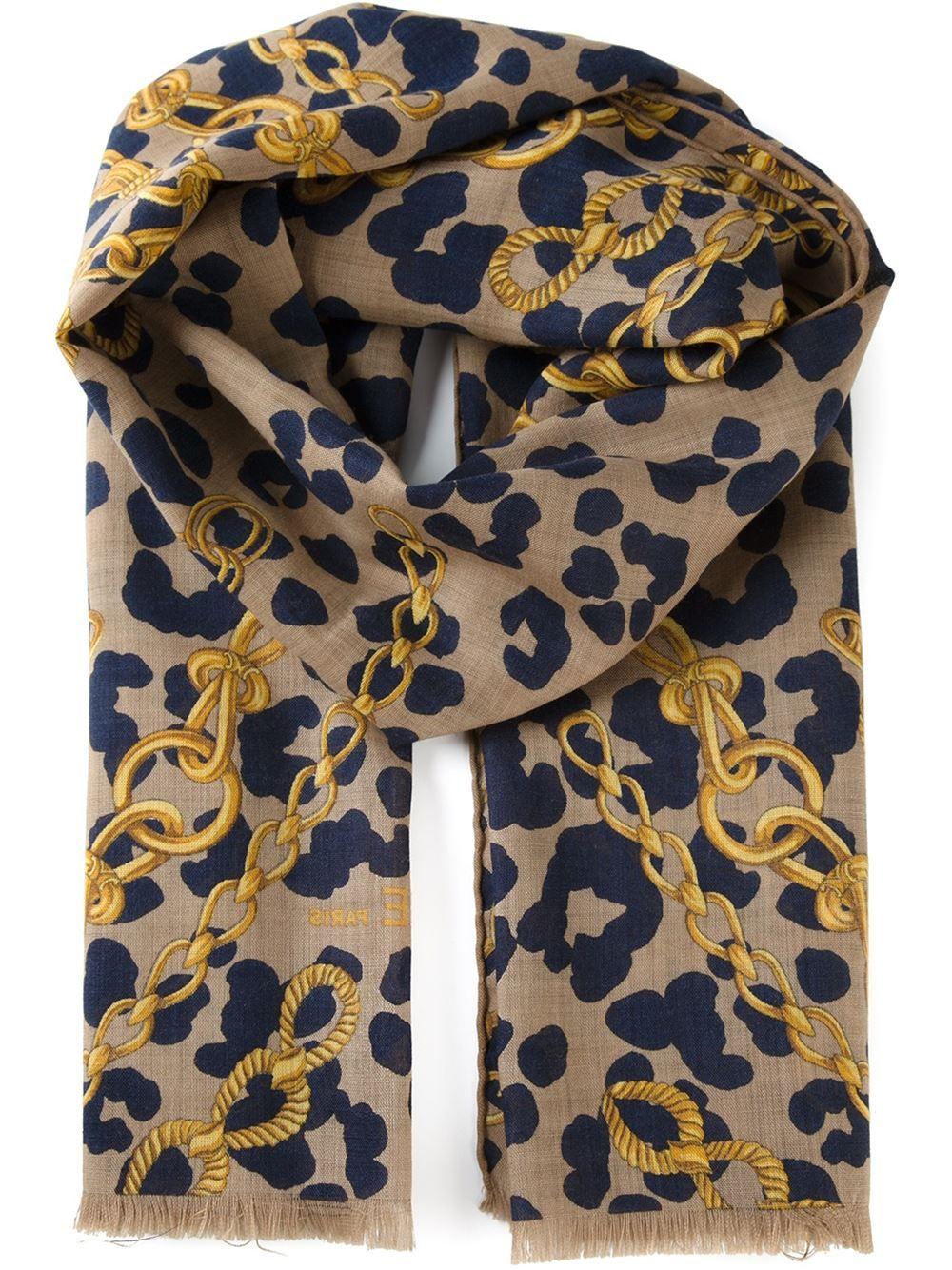 Céline Vintage Leopard Print Scarf - Katheleys Vintage - Farfetch.com