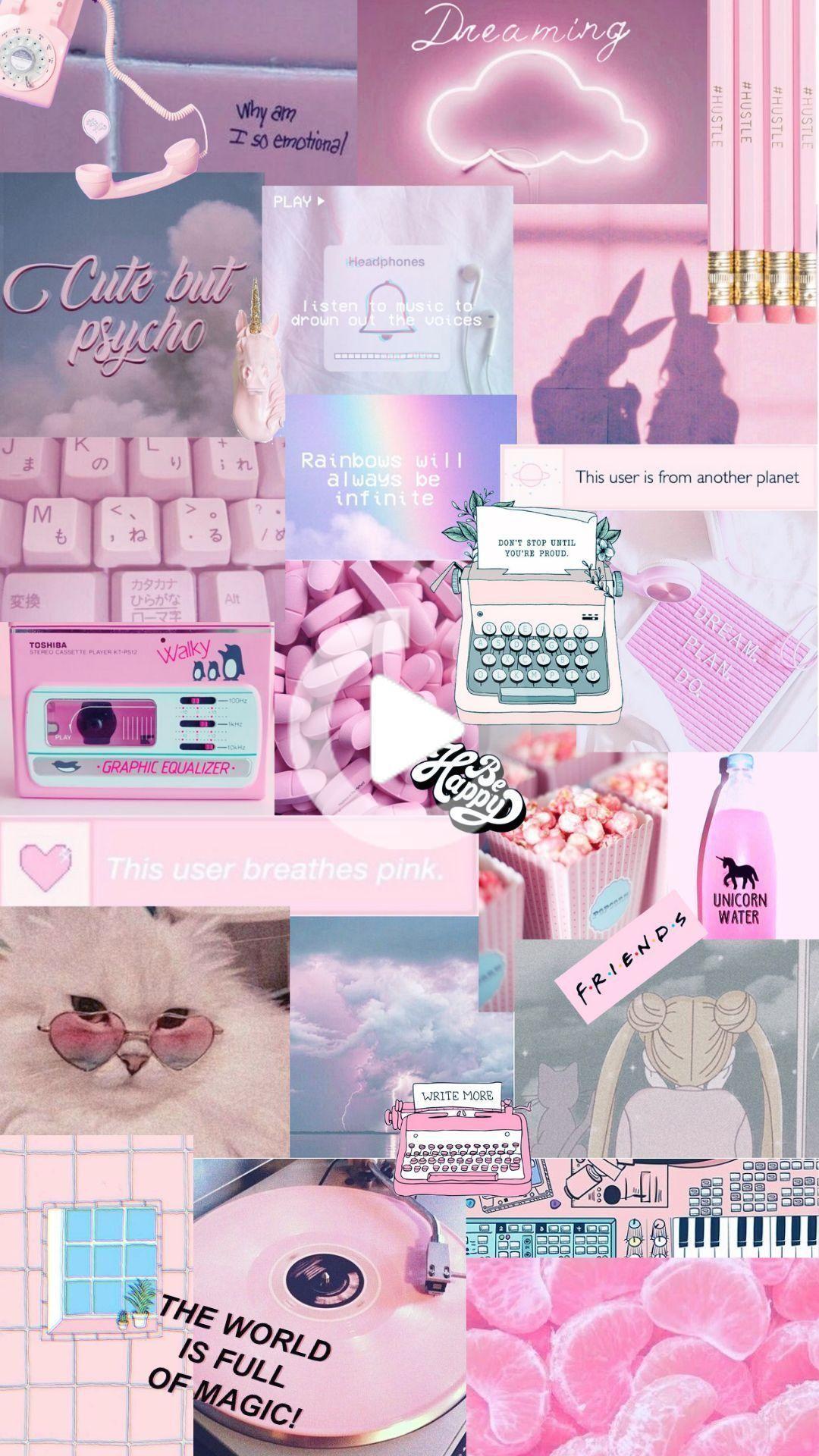 iphone wallpaper, Pink aesthetic ...