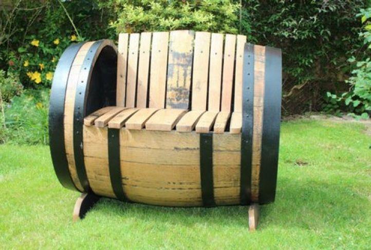 Oak Scotch Whisky Barrel Garden Chair   Absolute Home