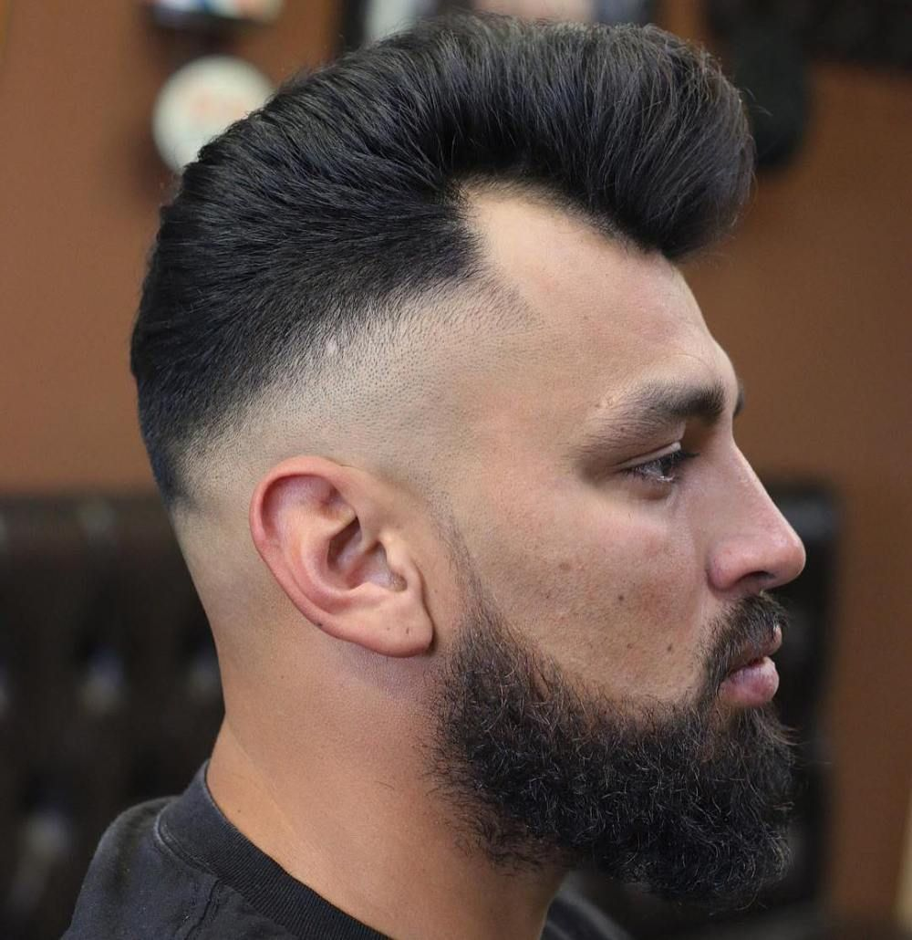 Pompadour With Drop Fade Hairstyles For Receding Hairline Receding Hair Styles Mens Haircuts Receding Hairline