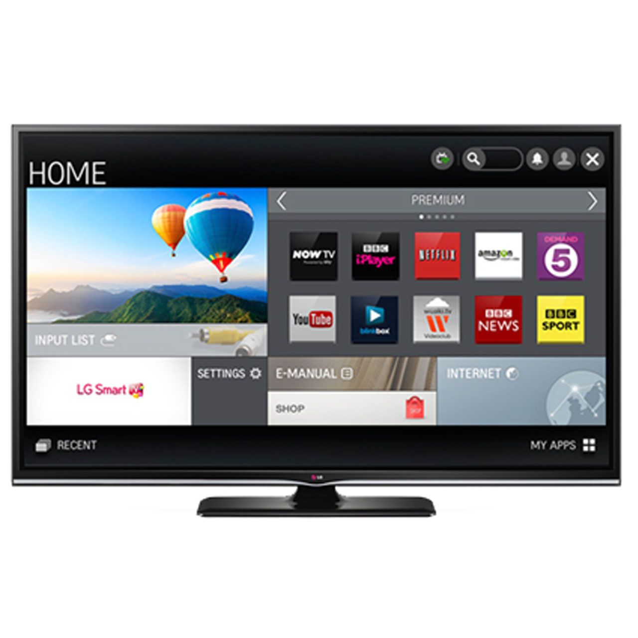 "LG 60PB660V 60"" Smart Full HD Plasma Freeview HD TV"
