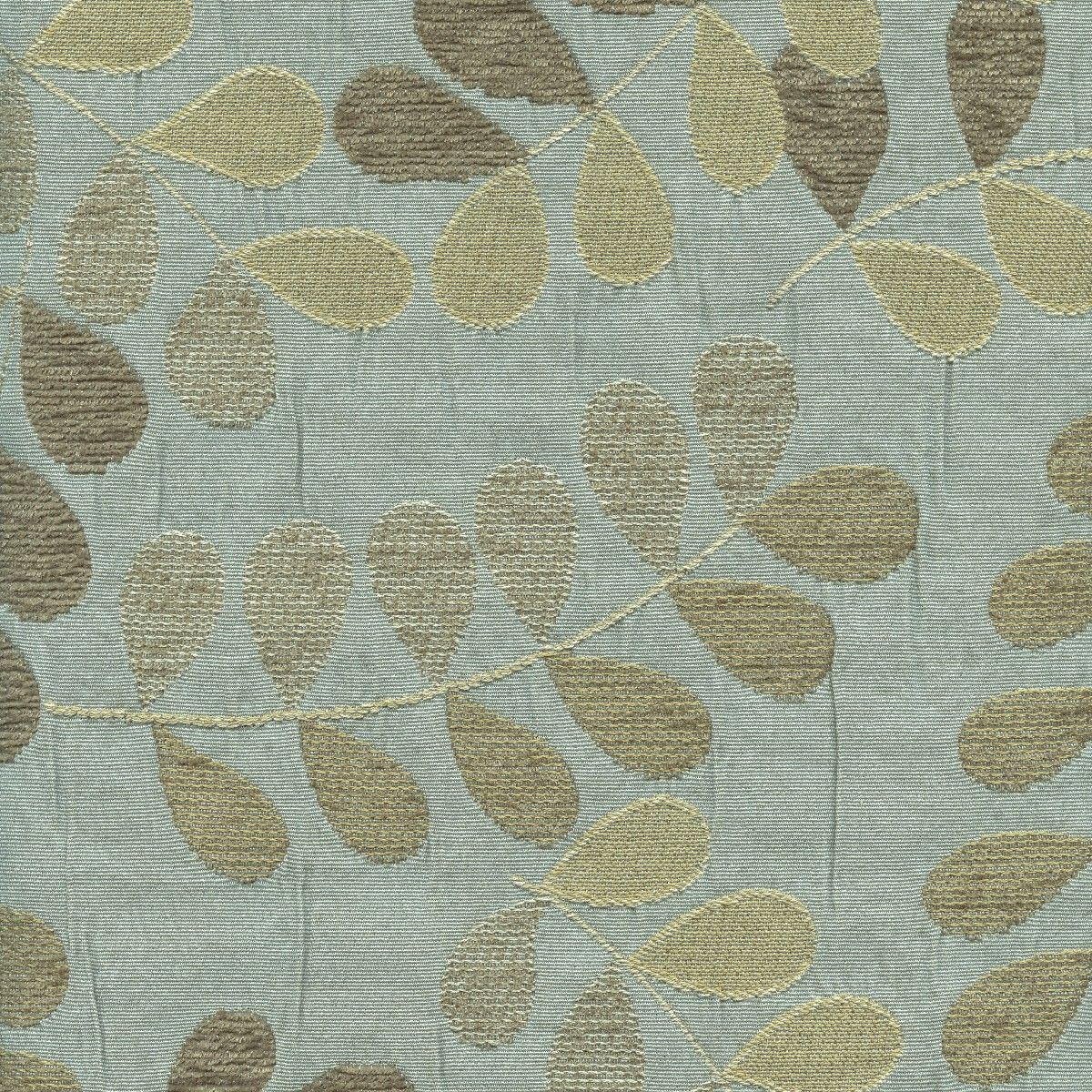 30704 - Mystic (Canopy) Fabric with multi-color leaves. Blue, tan ...