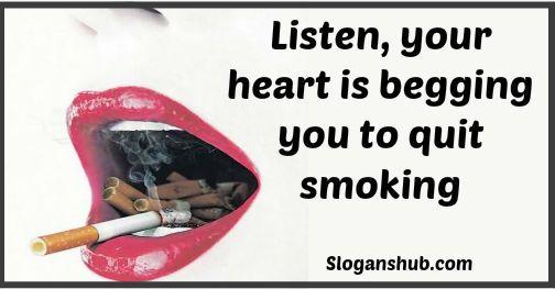 No Smoking Slogan: Lis...