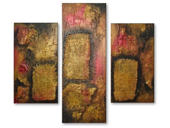 C mo hacer cuadros abstractos modernos texturizados - Cuadros con relieve modernos ...