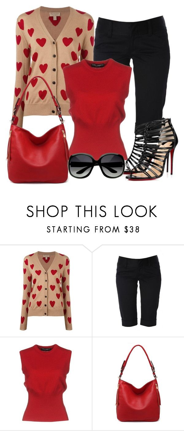 """""""Untitled #1455"""" by gallant81 ❤ liked on Polyvore featuring Burberry, Alice + Olivia, Dolce&Gabbana and MKF Collection"""