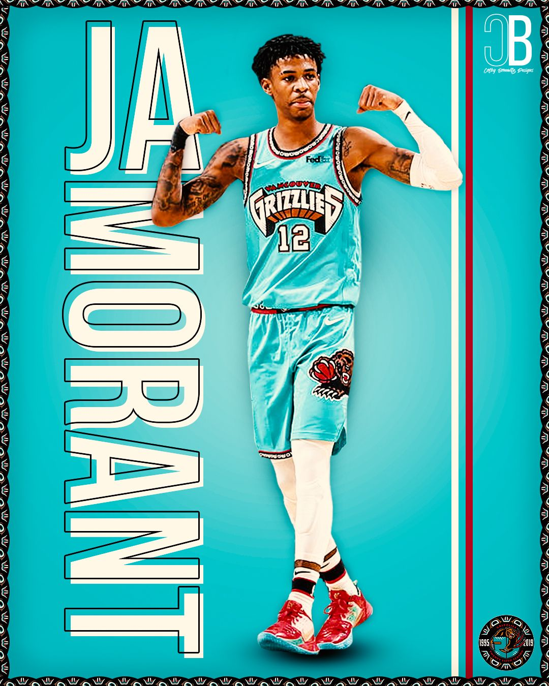 Graphic Design of NBA Player JA Morant in 2020 (With