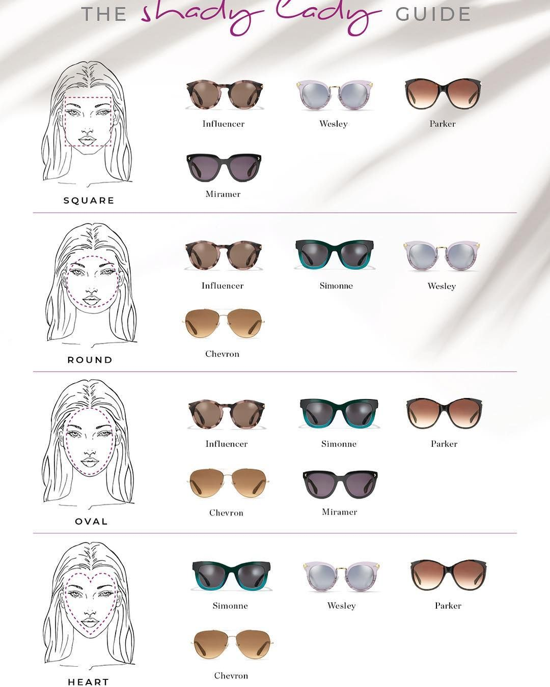 8078a9cef8f Ever wondered which style of sunglasses suit your face shape  Heres our  Shady Lady guide to help you choose the perfect dummies for your hols.