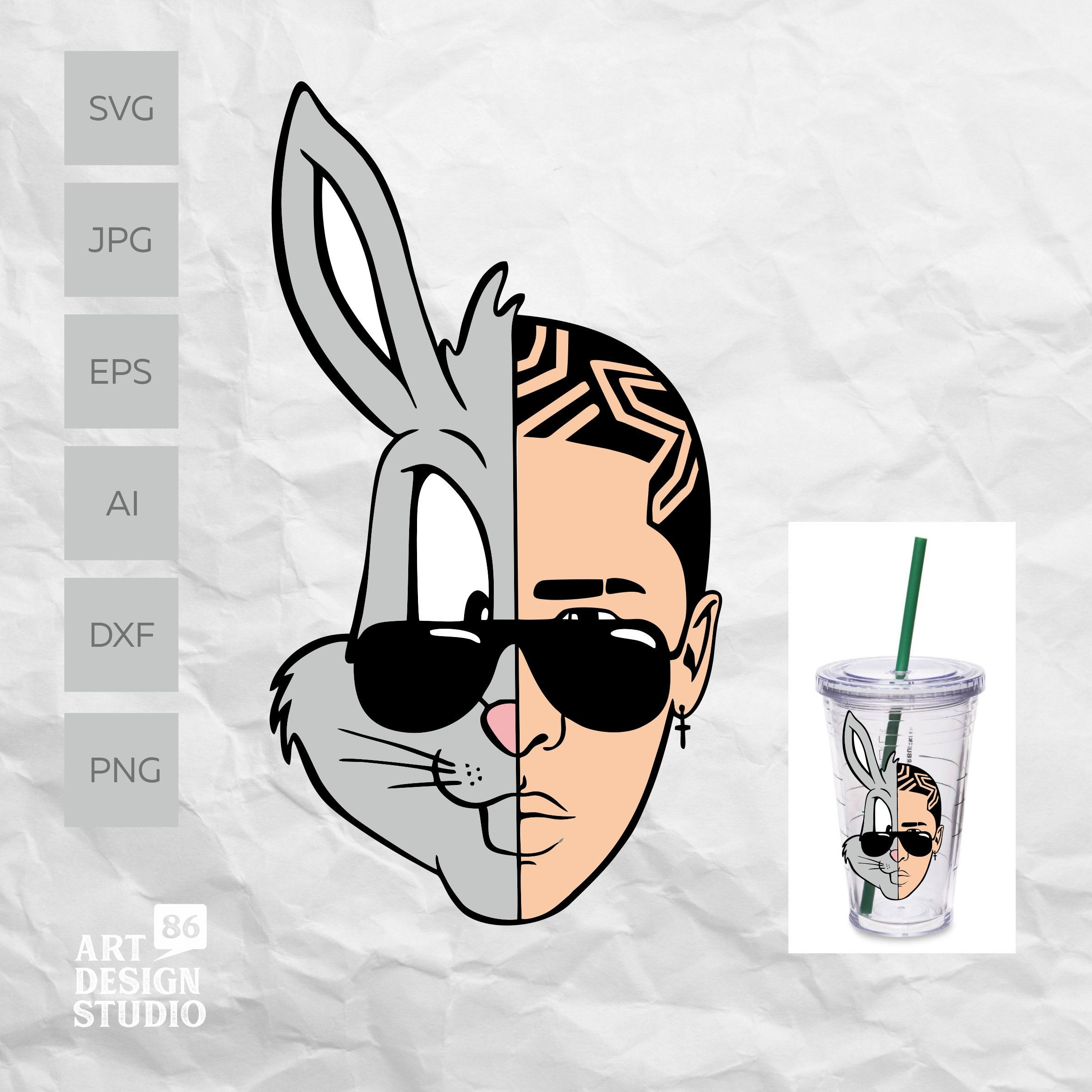 Bad Bunny svg Bad Bunny Bugs SVG File for DIY projects Bad