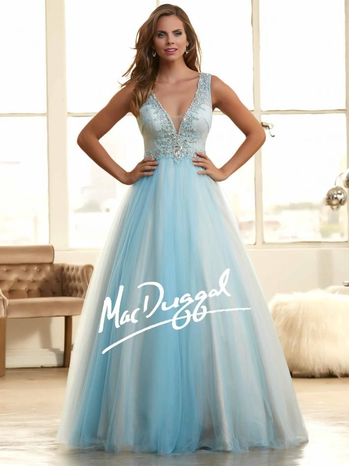 Frozen Inspired Prom Dress | Ice Blue Ball Gown | Mac Duggal 48263H ...