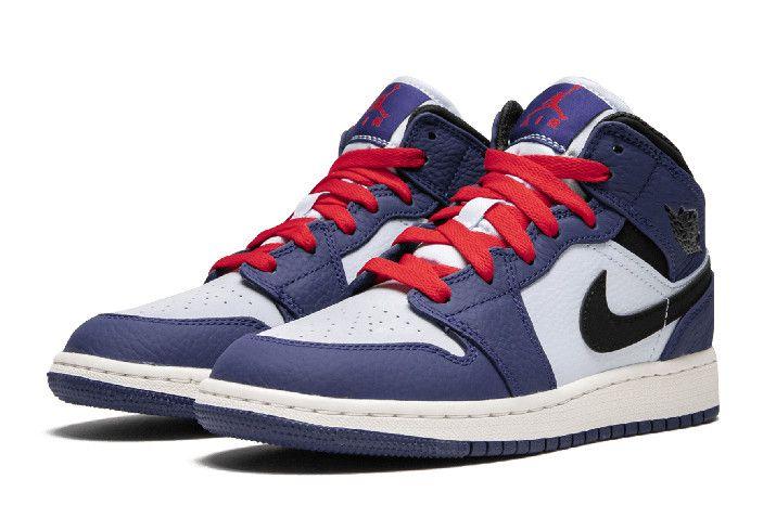 """separation shoes 02de2 f07e0 Air Jordan 1 Mid SE GS """"Spider Man"""" Deep Royal Blue Black BQ6931-400"""